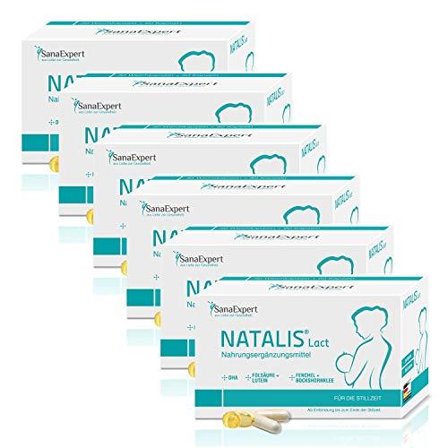 PACK 6 | SanaExpert Natalis Lact | INTEGRATORE PER L'ALLATTAMENTO | con DHA, acido folico, finocchio e fieno greco (540 capsule). Ingredienti 100% naturali.