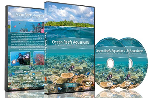 Natur und Ozean DVD - 2 DVD Set Riff-Aquarien des Ozeans - Ein entspannendes virtuelles Erlebnis in der Unterwasserwelt