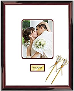 16x20 Signature Autograph Picture Matted Frame 8x10 Picture Wood Glossy Traditional Mahogany Personalized Engraved Frames Weddings Baby Retirement Reunions Photo Inner Maroon