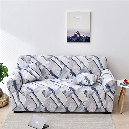 PPMP Funda de sofá elástica Floral Fundas de sofá para Sala de Estar Protector de Muebles de poliéster Fundas Funda de sofá A4 2 plazas