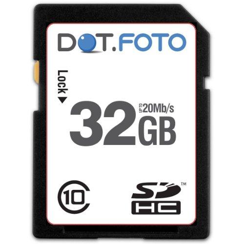 Dot.Foto Scheda di Memoria SDHC da 32 GB, Fino a 20 MB/Sec, Classe 10 UHS-1 per Kodak EasyShare M/MD fotocameras [Vedere la Descrizione per la compatibilità]