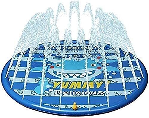TYUXINSD Lovely Equipo de Fitness Splash Pad Sprinkler Pad Sprinkle Pool Pool Trampoline Sprinkler Inflable 170cm Juego de Agua Play Sprinklers