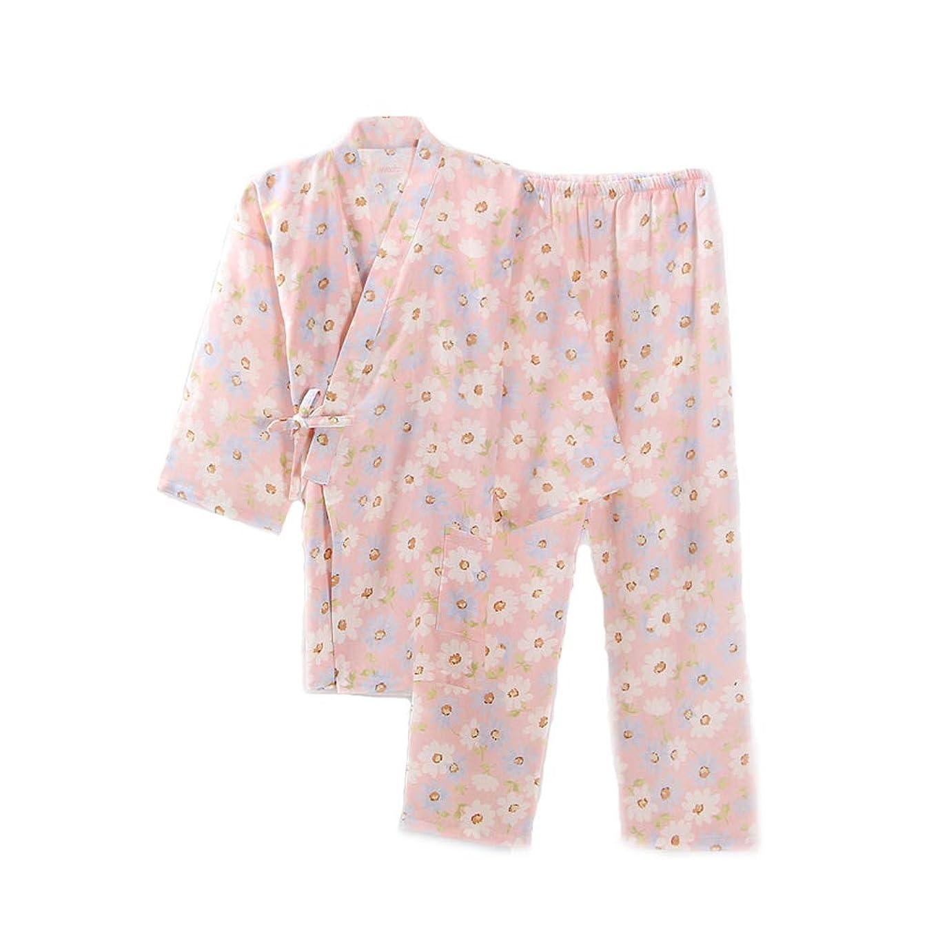 巨大強化する郵便番号レディース 浴衣地 和柄 ルームウェア レディースパジャマ 肌触り良い 寝間着 寝巻き 桜の花柄 可愛 上下セット