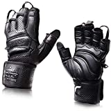 Elite Leather Gym Gloves with Built...