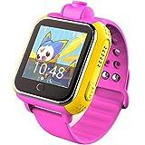 TURNMEON Q8 Kids smart watch SmartWatch Para Niños Reloj Inteligente Infantil Pulsera Localizador base on Android 4.2 WIFI,GPS, LBS, SOS Llamada SIM Para Android iPhone IOS (rosa)