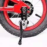AISHEMI - Cavalletto in lega per bicicletta con cavalletto singolo antiscivolo, supporto laterale per bicicletta da 14', 40,6 cm, 45,7 cm, per bici da bambini (14)