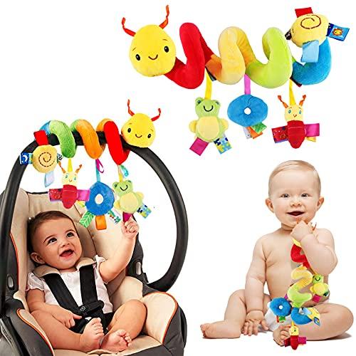 Spirale Spielzeug Kinderwagen Baby Autositz, Krippe, Bett Hängen Spielzeug Babyschale Aktivitäten Spirale Baby Früherziehung Spielzeug Spielen für Kleinkind Jungen Mädchen ab 0+ Monaten