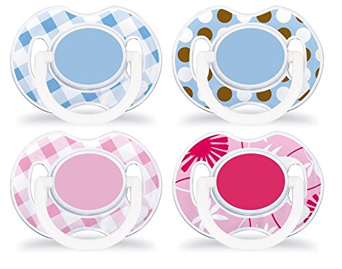 Philips Avent 8710103645344 Modische Beruhigungssauger/Schnuller 0-6 Monate (2 Stück), mehrfarbig