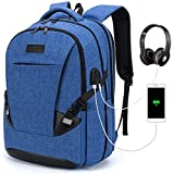 Tzowla Travel Laptop Backpack Waterproof Business Work School College Bag Daypack with USB