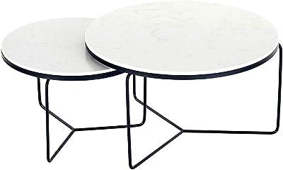 ZRRtables Table dappoint en Verre en Verre Table dappoint Concepts de Terrarium avec Armature en Fer dor/é pour la Maison Le Salon et la Salle /à Manger