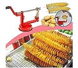 takestop® Taglia AFFETTA Patate A Spirale Twister Pratico per Cucina RICCIOLO AFFETTATRICE SBUCCIA