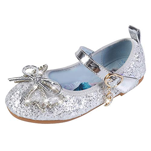 YOSICIL Infantil Zapatos Frozen Elsa Antideslizante con Velcro Disfraz Elsa Frozen de...