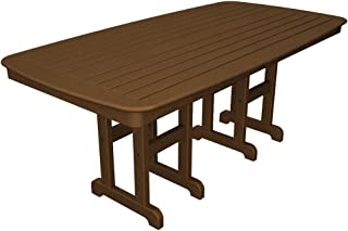 POLYWOOD NCT3772TE Nautical Dining Table, 37 by 72-Inch, Teak