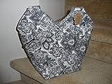 Reversible Black and White Bag,/Ladies Purse/Carry All Ladies Handbag