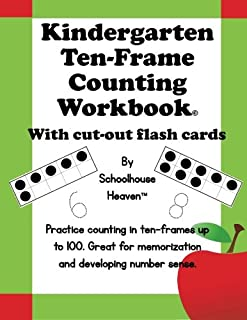 Kindergarten Ten-Frame Counting Workbook: With Cut-Out Flash Cards