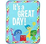 Jay Franco Inside Out Dots Plush Throw