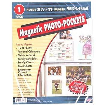 Bulk Sale 30 x Freez-A-Frame 8-1//2 x11 Magnetic Photo Pockets Made USA Free Ship