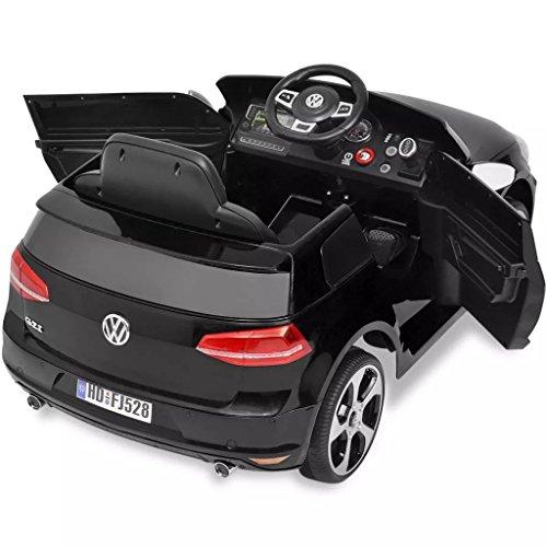 RC Auto kaufen Kinderauto Bild 5: SENLUOWX Kinderauto Elektroauto VW Golf GTI 7 schwarz 12 V Kinderfahrzeug Kinderauto mit Fernbedienung*