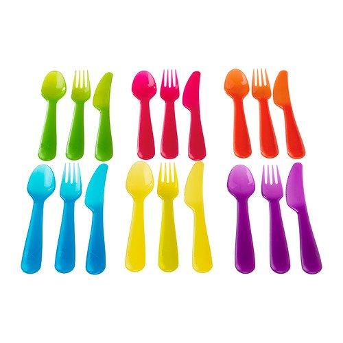 Ikea Kalas 18-Piece Cutlery Set Assorted Colours