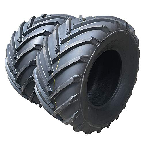 SUNROAD Set of Two 18x9.50-8 Tractor Lug Ag Tire 18x9.50x8 18/9.50-8 Lawn Garden Tires 2ply
