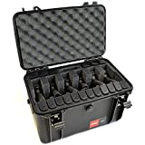 6 Pistol 18 Magazine HPRC 4100 Discreet Gun Carrying Case with MyCaseBuilder Custom Designed Military Grade Foam Insert - Waterproof Crushproof Hard Case with Foam for Safe Travel and Storage