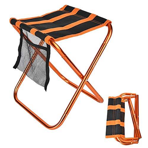 Camp Stool, Mini Plegable Taburete de Camping Ligero Silla de Campamento Plegable portátil para Acampar Pesca Senderismo Jardinería Silla de Playa al Aire Libre