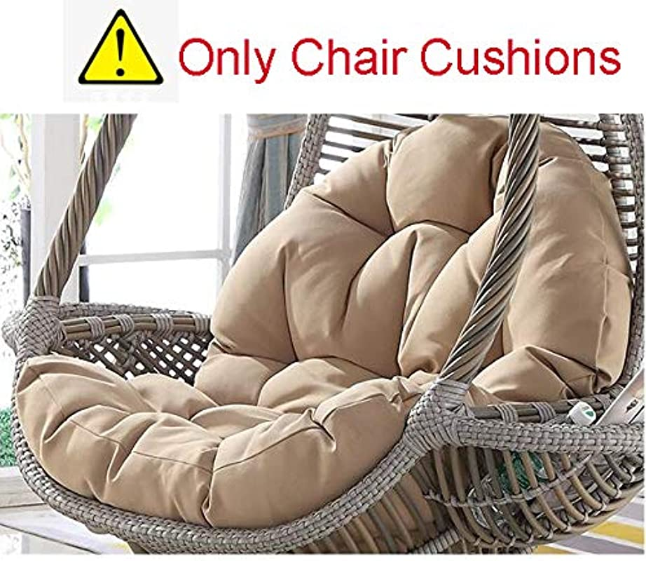 SQINAA Hanging Egg Hammock Chair Cushions Without Stand Multi Color Swing Seat Cushion Thick Nest Hanging Chair Back With Pillow D