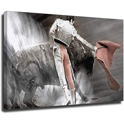 El arte de la corrida de toros Póster decorativo de la lona de la pared del arte de la sala de estar carteles del dormitorio Pintura Unframe-style1 50 x 75 cm