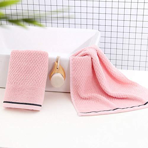XINDUO Toallas de algodón de Calidad Duradera,Toalla Absorbente Suave de algodón Puro 2pcs-Pink_73 * 35,Toallas de baño de algodón Puro Toalla