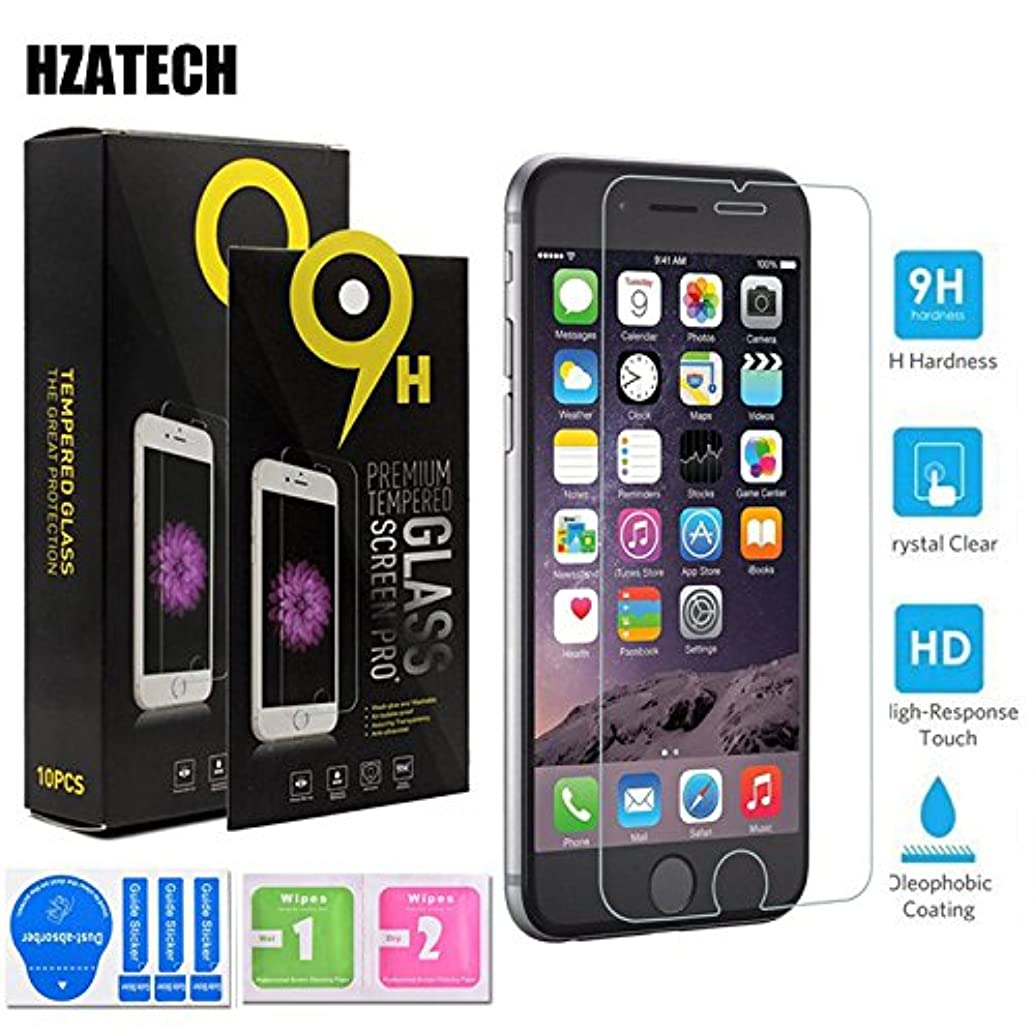 iPhone 8 7 Screen Protector, HZATECH(10 Packs) Tempered Glass Screen Protector For Apple iPhone 8 / iPhone 7 [3D Touch Compatible] 0.26mm Screen Protection Case Fit 99% Touch Accurate