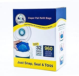 Neatforbaby Diaper Refill 32 Bags (960 Counts) Fully Compatible with Arm&Hammer Disposal System by Neatforbaby