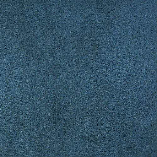 Deshome Zeus Ares - Tessuto a Metro in morbida Microfibra antimacchia altezza 140 cm per arredo divani poltrone sedute pouf (Blu, 1 metro)