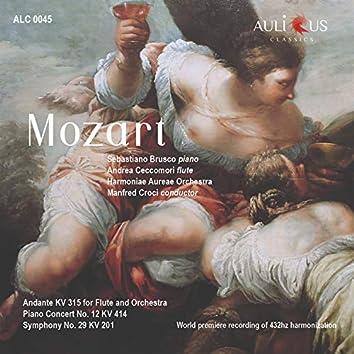 Mozart: Andante for Flute and Orchestra K. 315 - Piano Concerto No. 12 K. 414 - Symphony No. 29 K. 201