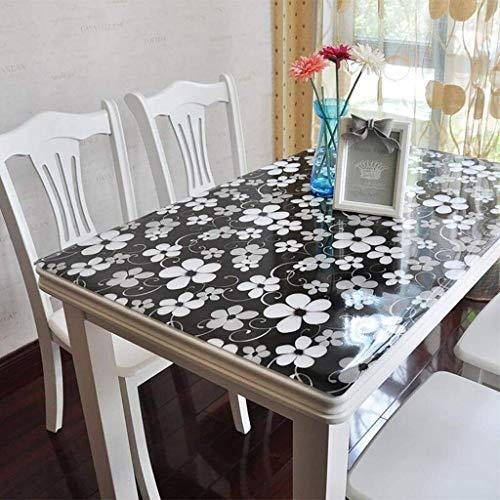 Mantel transparente Rectangular de PVC protector de la tabla, resistente al agua de plástico de vinilo Tabla cubierta a prueba de derrames y fácil de limpiar cena del café Mantel -b 70x140cm (28x55inc