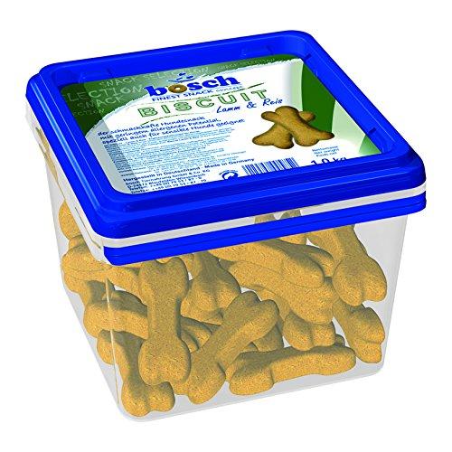 bosch FSC Biscuit Lamm & Reis | Belohnungssnack für Hunde | mit geringem Allergenen Potential | besonders für ernährungssensible Hunde geeignet | 6 x 1 kg