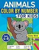 Animals Color by Number for Kids: Coloring Activity for Ages 4 – 8