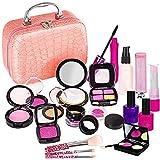 TLM Toys Juego de maquillaje para niñas, 21 unidades, juego de maquillaje para niños, juego de rol para fiestas de princesas, fiestas de princesas, fiestas de juegos