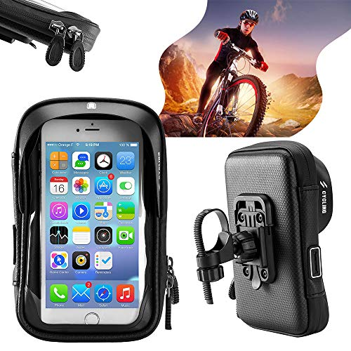 YETE Impermeabile Lagrge capacità Mobile Phone Stand per Bicicletta Mountain Bike Manubrio Bicicletta Phone Case Sensitive Phone Mount Bag Holder | Dimensioni 6'/5,8'