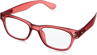 bright red glasses