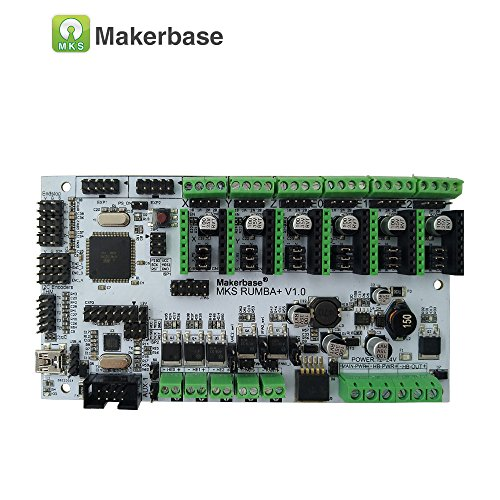 MKS Rumba Control Board for 3D Printer Arduino RepRap 2560 R3 Processor Upgrade Rumba+ Control Board Compatible With TMC2100/TMC2208/TMC2130/A4988/DRV8825 Drivers