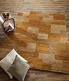 GANESHA TALI echter original handgeknüpfter Nepal-Teppich in orange, Größe: 200x250 cm - 5