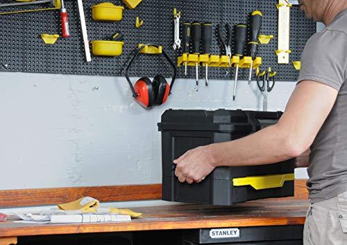 Stanley Werkzeugkiste leer aus Kunststoff 1-70-316 / Werkzeugkoffer mit integrierter Schublade für Kleinteile / Maße: 48.1 x 27.9 x 28.7 cm - 12