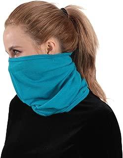 Merino Wool Neckwarmer, NEUYILIT Soft Lightweight Multifunctional Outdoors Sports Magic Scarf Bandana Balaclava Headwear