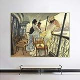 James Tissot 《La galería del HMS Calcuta》 Arte de la lona Pintura al óleo Obra de arte Impresión del cartel Imagen Decoración de la pared Decoración del hogar 46x35cm Sin marco