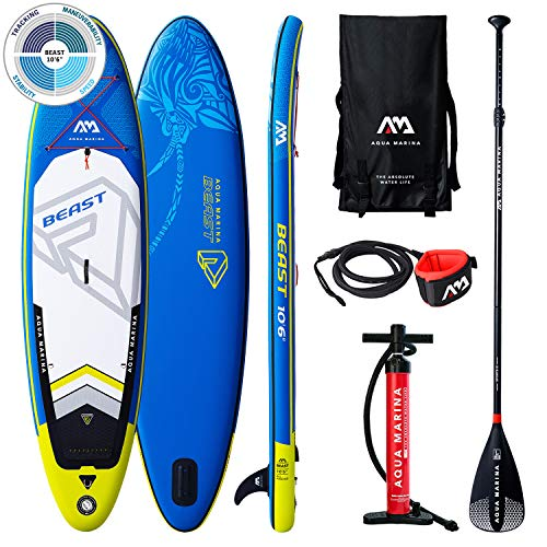 AM AQUA MARINA Set de Stand Up Paddle Board Inflable Beast 2020 iSUP Espesor 10.6 Pulgadas Stand-Up Paddling Sup-Board 320 x 81 x 15 cm