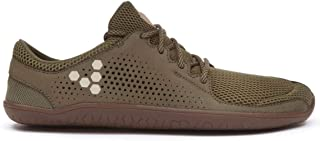 vivobarefoot Primus Trio, Womens Lightweight Suede Trainers, with Barefoot Sole Green