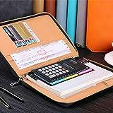 ELECTROPRIME Leather Zipper Padfolio Portfolio Organizer Writing Replace Notebook Green
