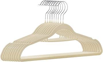 TXC- Hanger Seamless Non-Slip Clothing Support Household Clothes Rack Adult hanger Plastic hanger Multipurpose (Color : Be...