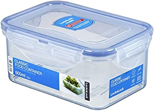 Lock & Lock Classic Stackable Airtight Rectangle Food Container, 600ML (HPL-811)