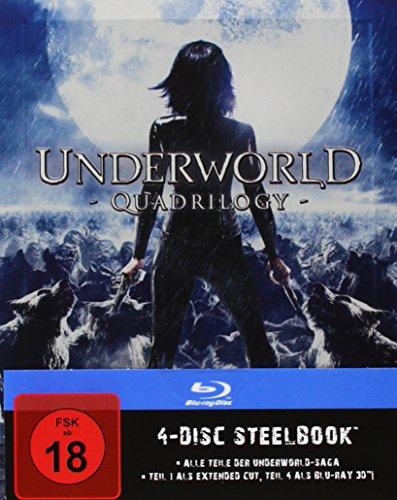 Underworld 1-4 - Steelbook [Blu-ray]
